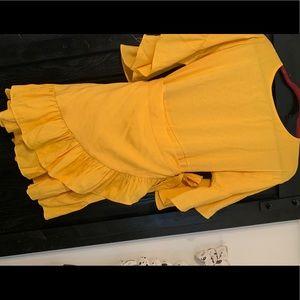 Forever 21 Dresses - Forever 21 Yellow Wrap Dress - Medium